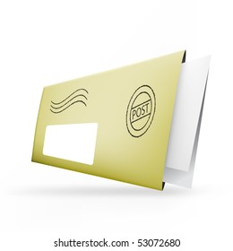 Realistic illustration of an envelope. A vector post parcel
