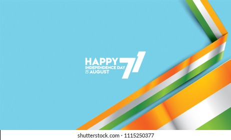 realistic illustration India flag waving for background design. independence day of india society