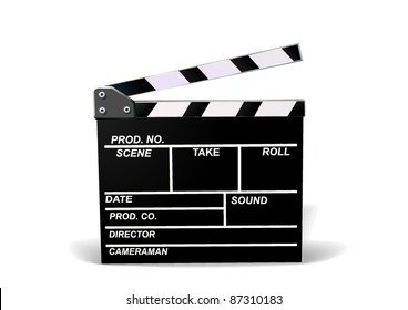 Realistic illustration of movie CRACKER. Front. Isolated. Shadow. Vector.