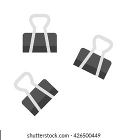 Realistic illustration paper clip vector