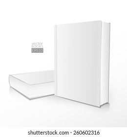 Realistic illustration of two books on a light background.