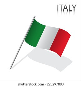 Realistic Italian flag, vector illustration