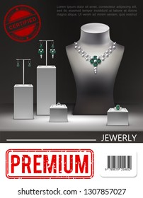 Realistic Jewelry Promotional Poster
