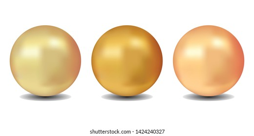 Realistic jewelry sphere vector for design. Decoration element