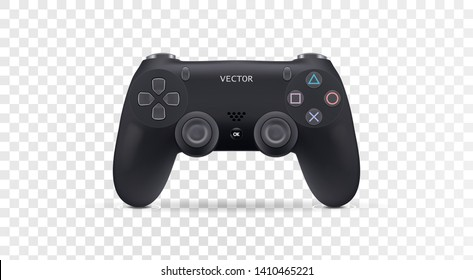 Realistic joystick gamepad. Vector illustration eps10.