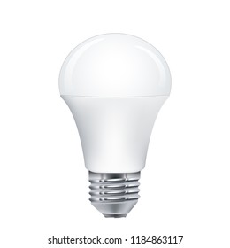 Realistic LED light bulb, vector, isolated on white
