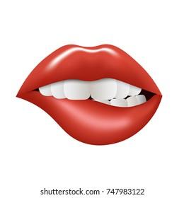 Realistic Lips. Vector illustration