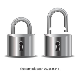 Realistic lock – stock vector