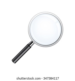 Realistic loupe, Magnifying Glass with black handle