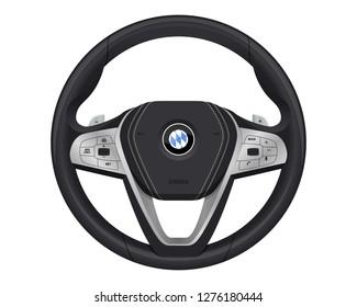 realistic luxury steering wheel.