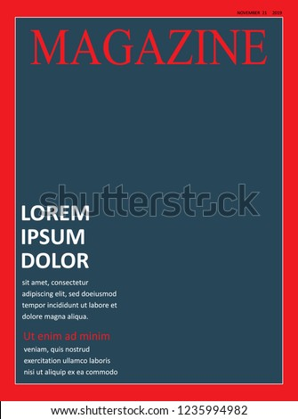 realistic magazine front page template vector stock vector royalty
