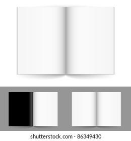 Realistic magazine set number four. Illustration on white background for design.