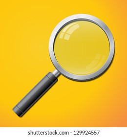 Realistic magnifier isolated