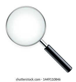 Realistic magnifying glass - stock vector.