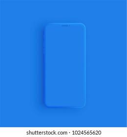 Realistic matte colorful phone, vector illustration
