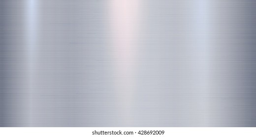 Realistic metal texture background with lights, shadows and scraths in blue tint. Perfect for your metal industry design