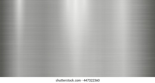 Realistic metal texture background with lights, shadows and scraths in gray tint. Perfect for your metal industry design
