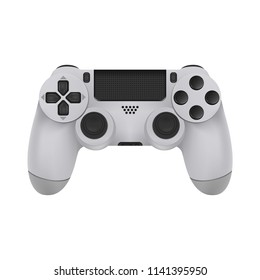 Realistic Mock-up Modern Game Controllers. Gamepad from the game console isolated on a white background. Vector illustration. Eps 10.