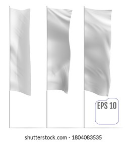 Realistic mockup of Outdoor Panel Flag