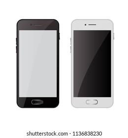 Realistic modern phone