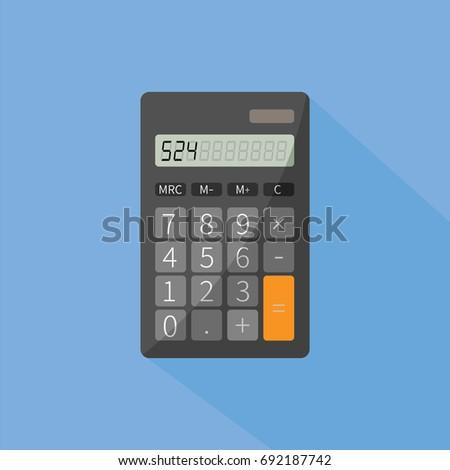 realistic modern simple keypad pocket calculator stock vector