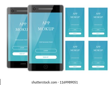 Realistic mokup smartphone . Vector illustration object mockup. Can use for printing, website, apps element. background for application mockups.