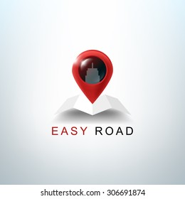 realistic navigation vector logo gps icon travel