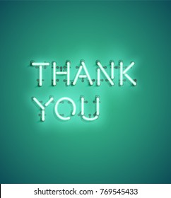 Thank You Neon Images Stock Photos Amp Vectors Shutterstock