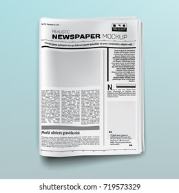 Realistic newspaper (magazine) mockup (template). Vector illustration