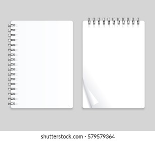 Realistic Note Template Blank Set Empty Mock Up Place for Your Text. Vector illustration