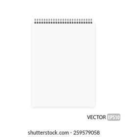 Realistic notebook vector.