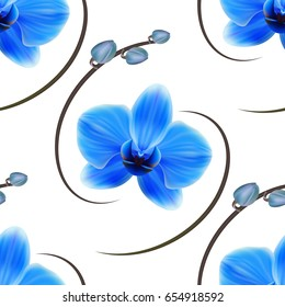 Realistic orchid background, pattern.