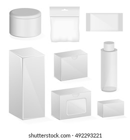 realistic package on a white background. Realistic Tubes And Package. Vector