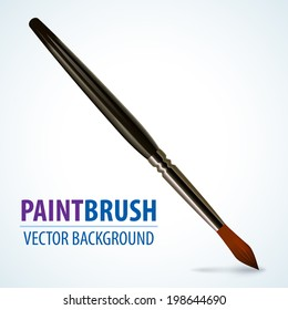 Realistic paint brush for your designs, vector illustration