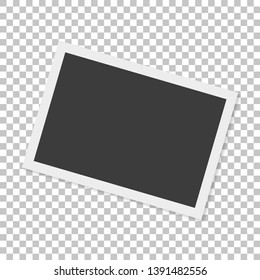 Realistic paper photograph with shadow isolated on white background. Foto frame