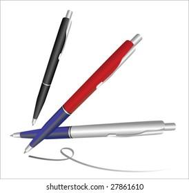 realistic pens