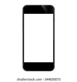 realistic phone isolated on white vector design