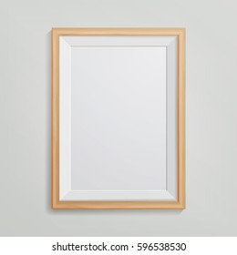 Realistic Photo Frame Vector. With Soft Shadow. Good For Your Presentations.