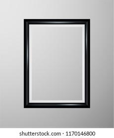 Realistic picture frame isolated on white background. Perfect for your presentations. Vector illustration esp10.