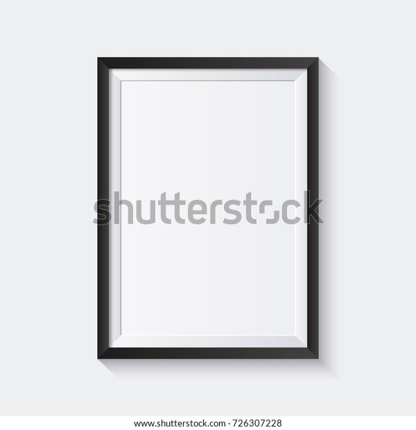 Реалистичная рамка изображения изолирована на белом фоне. Идеально подходит для ваших презентаций. Векторная иллюстрация.