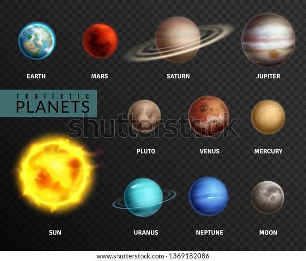 Image Vectorielle De Stock De Des Planetes Realistes Univers Spatial De 1369182086