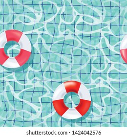 realistic pool and life buoy pattern