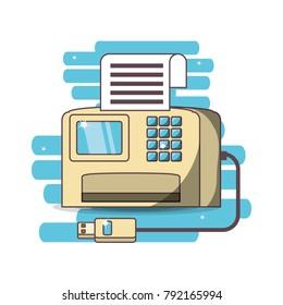 realistic printer cartoon