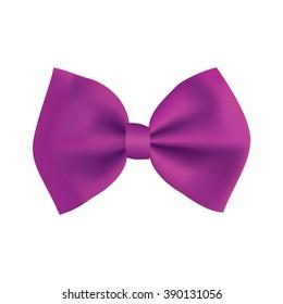 Realistic purple gift ribbon