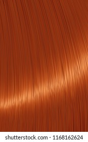 Realistic red ginger straight hair background
