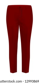 Realistic Red Trousers Mockup Vector