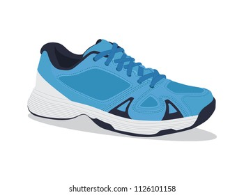 Realistic running shoes. Sport shoes. Vector illustration