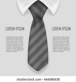 Realistic shirt and tie business bacground design vector illustration