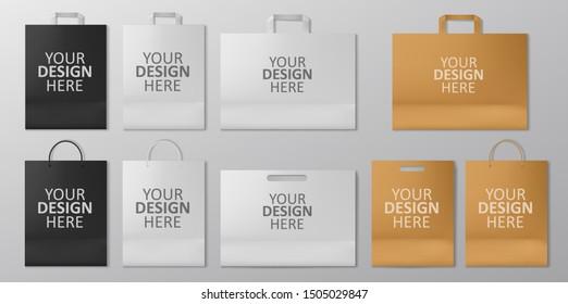 Realistic Shopping Bag Mockup set