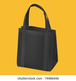 realistic shopping bag vector